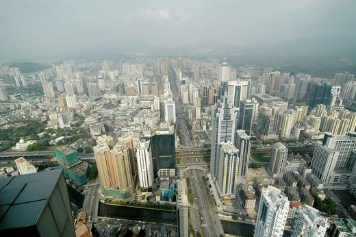 View from Diwang_Building, Shun Hing Square, Shenzhen, China : Stock Photo