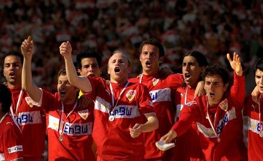 VfB Stuttgart Champion Bundesliga 2007, Stuttgart, Baden_Wuerttemberg, Germany : Stock Photo