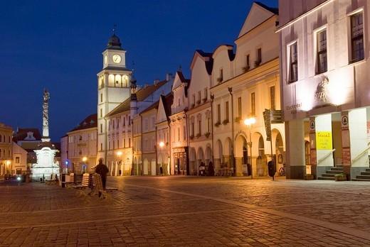 Historic old town of Trebon, Wittingau, South Bohemia, Czech Republic : Stock Photo