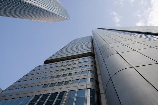 Office towers, Frankfurt, Hesse, Germany, Europe : Stock Photo