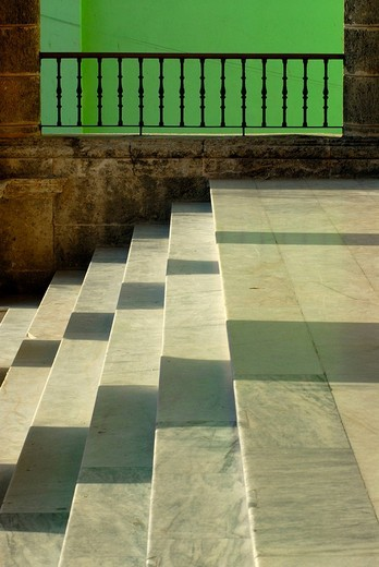 Marble steps, colonial architecture in Havana, Cuba, Caribbean, Americas : Stock Photo