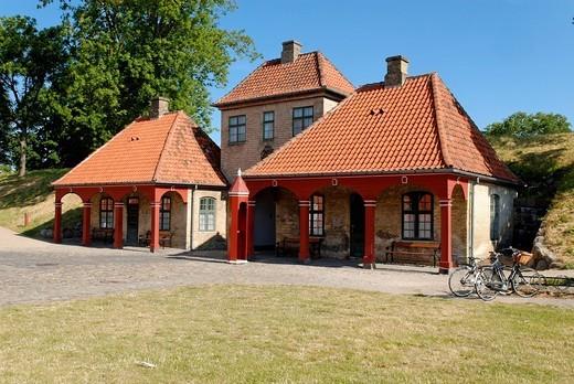 Historic gateway on the fortified island of Kastellet, Copenhagen, Denmark, Scandinavia, Europe : Stock Photo