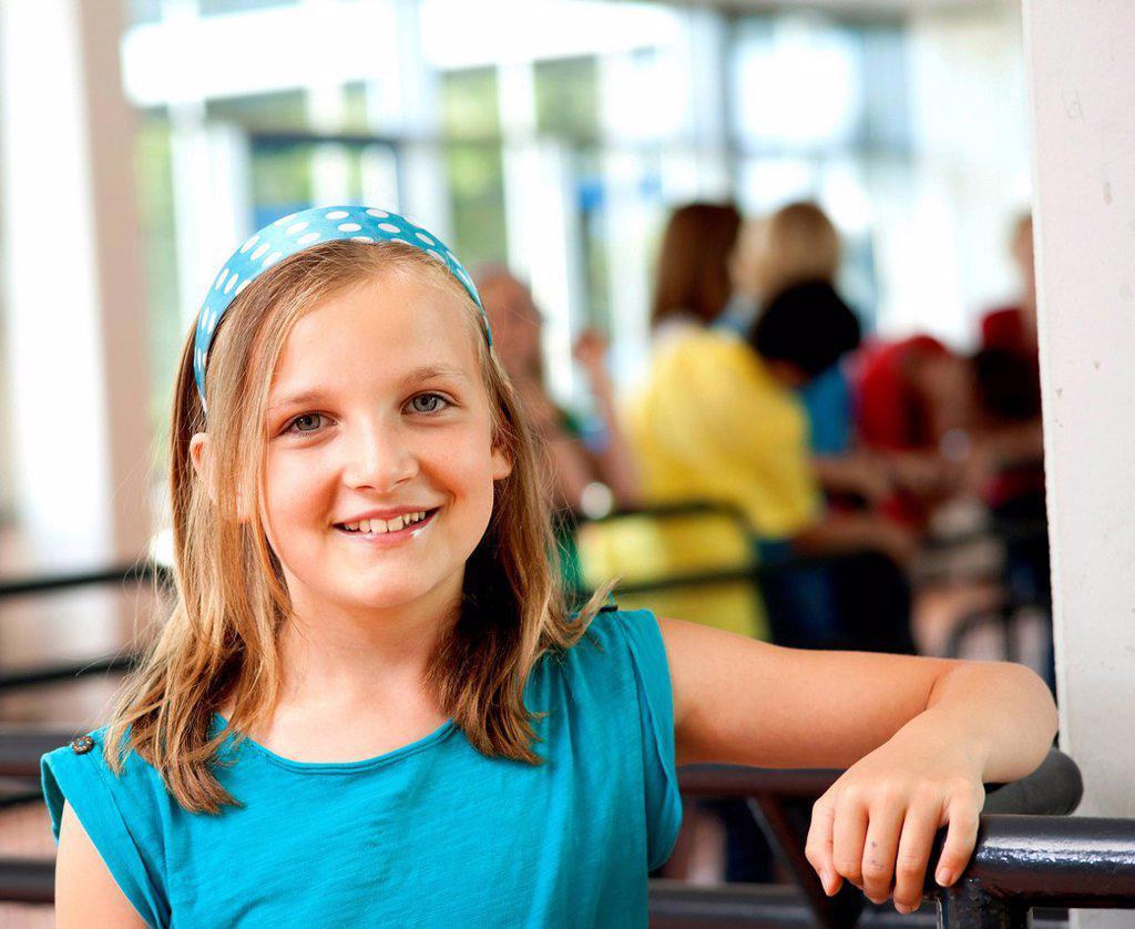 Schoolgirl, portrait : Stock Photo