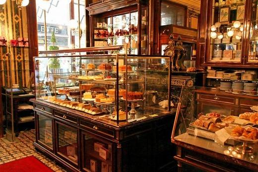 Cafe Demel, Kohlmarkt, interior Austria, Vienna : Stock Photo