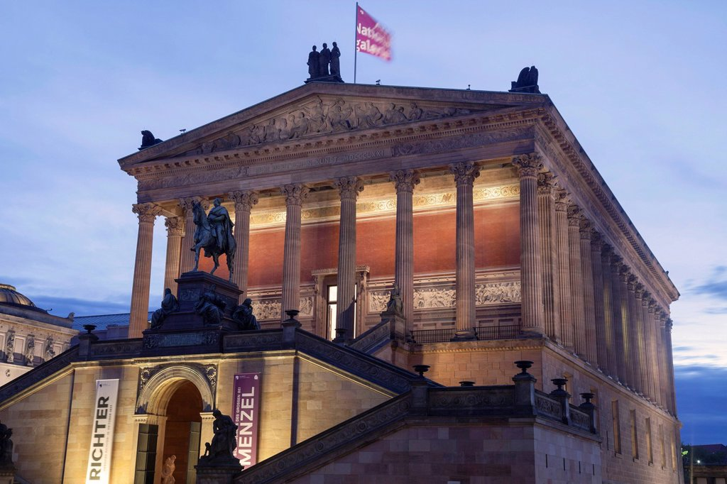 Stock Photo: 1848-647410 Alte Nationalgalerie, Old National Gallery, Berlin, Germany, Europe