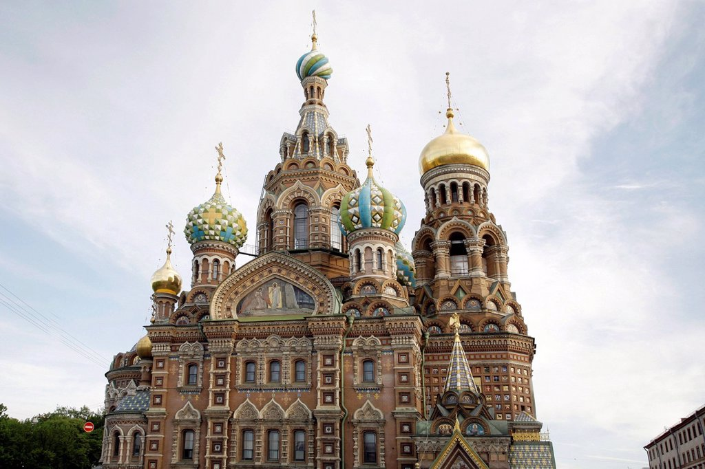 Stock Photo: 1848-647886 Church of the Savior on Spilled Blood or Cathedral of the Resurrection of Christ, UNESCO World Heritage Site, St. Petersburg, Russia, Eurasia