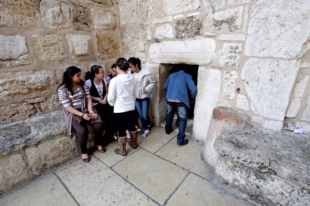 Stock Photo: 1848-648670 Entrance of the Church of the Nativity, Bethlehem, West Bank, Israel, Middle East