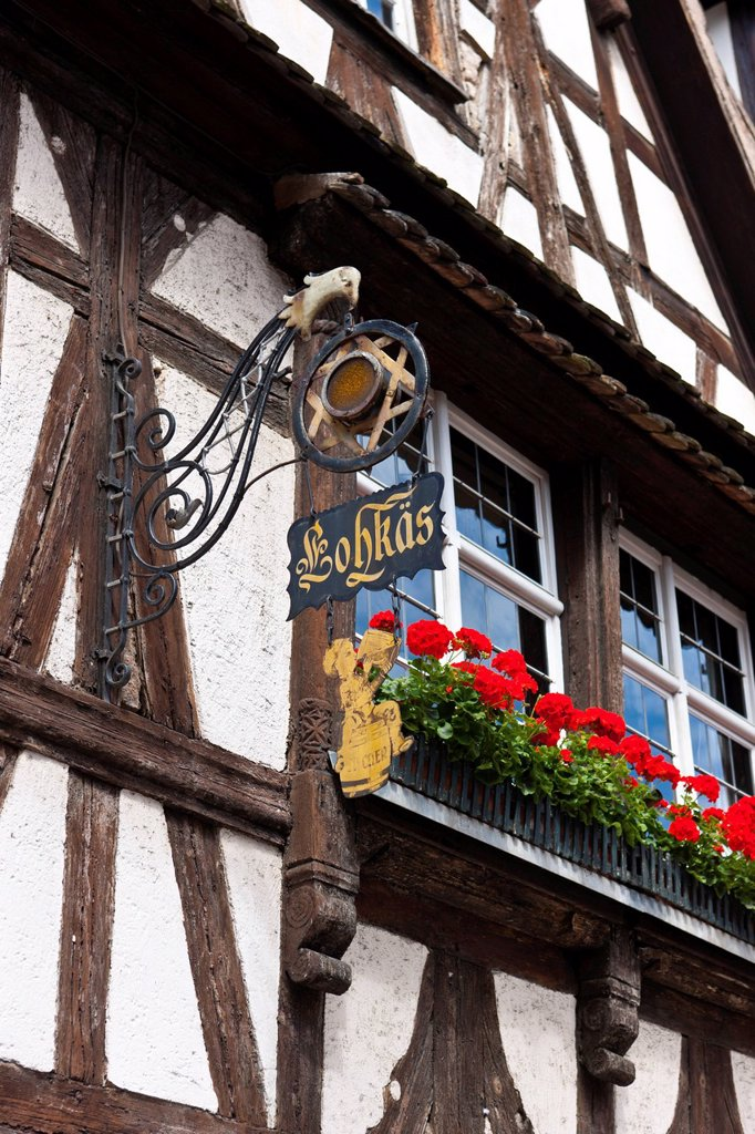 Stock Photo: 1848-649373 Half_timbered house, Gerber Quarter, Petite France, Strasbourg, Alsace, France, Europe