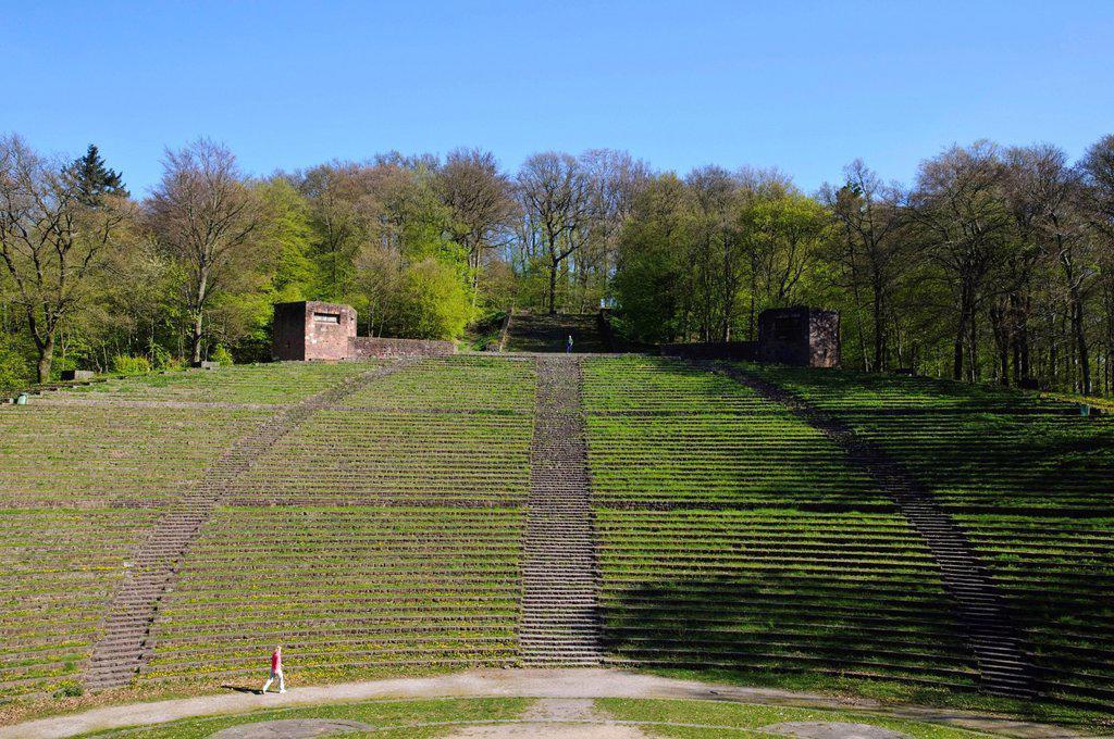 Thingstaette open air theatre, Heiligenberg, Heidelberg, Baden_Wuerttemberg, Germany, Europe : Stock Photo