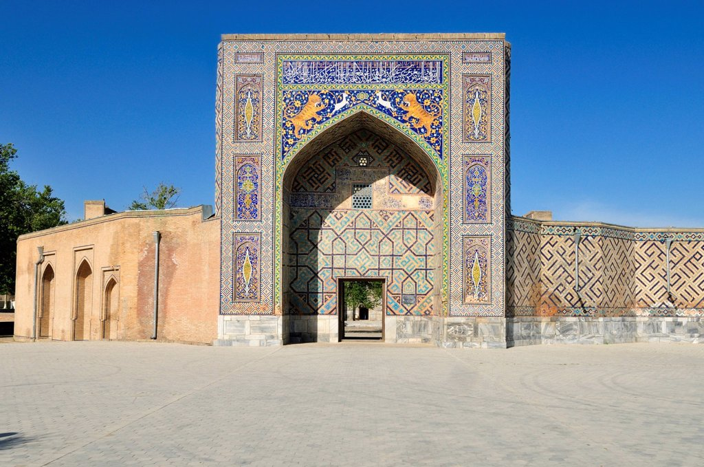 Hodja, Hoja Achra mausoleum at Ulugbek near Samarkand, Uzbekistan, Central Asia : Stock Photo