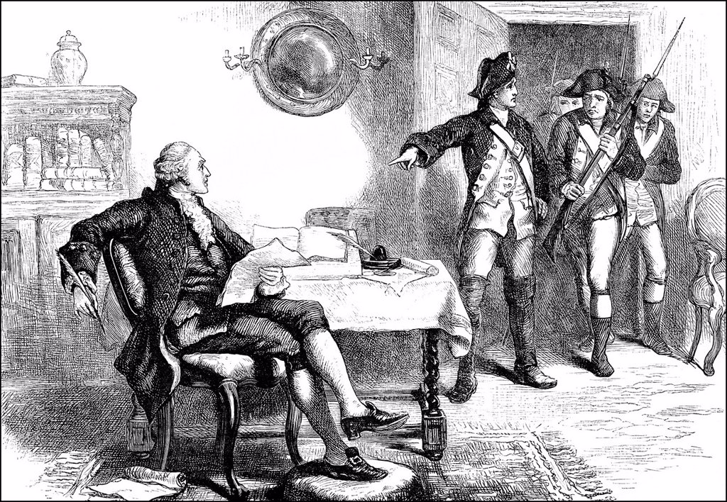Historical Drawing Us American History 18th Century Arrestment
