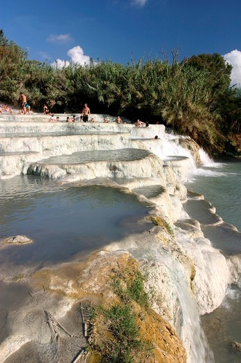 Stock Photo: 1848-65000 Terme di Saturnia, a frequented place of healthy, sulphur_rich water.