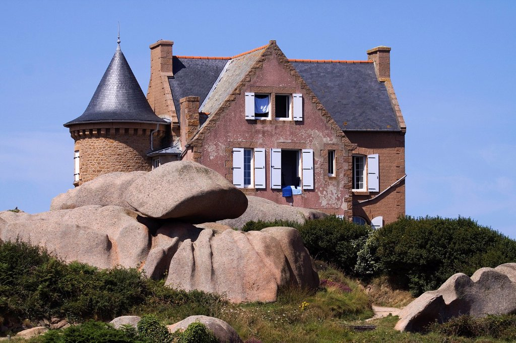 Stock Photo: 1848-650134 Rear view of the Maison Gustave Eiffel, Cotes d´Armor, Brittany, France, Europe
