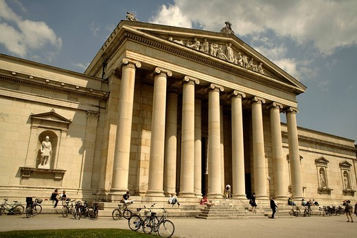 Glyptothek, Koenigsplatz Square, Munich, Upper Bavaria, Bavaria, Germany, Europe : Stock Photo