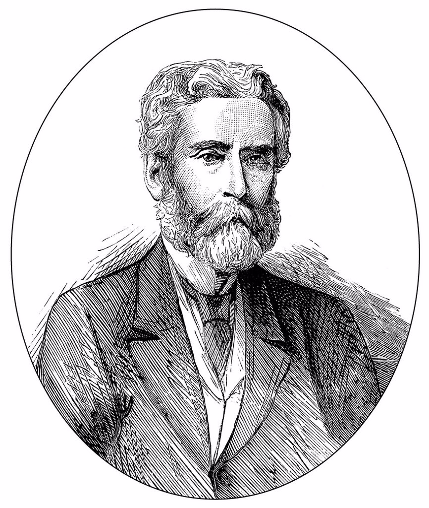Historical drawing, US_American history, 19th century, portrait of John Lothrop Motley, 1814 _ 1877, an American diplomat and historical writer : Stock Photo