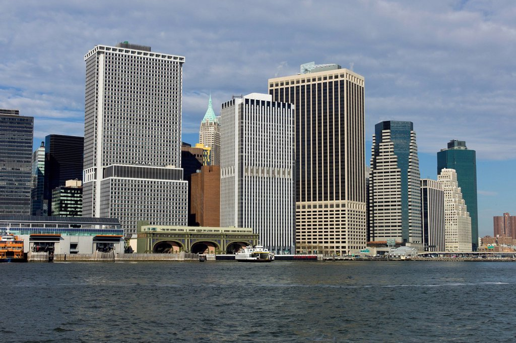 Stock Photo: 1848-650822 Skyline of New York, East River, New York, United States of America, USA