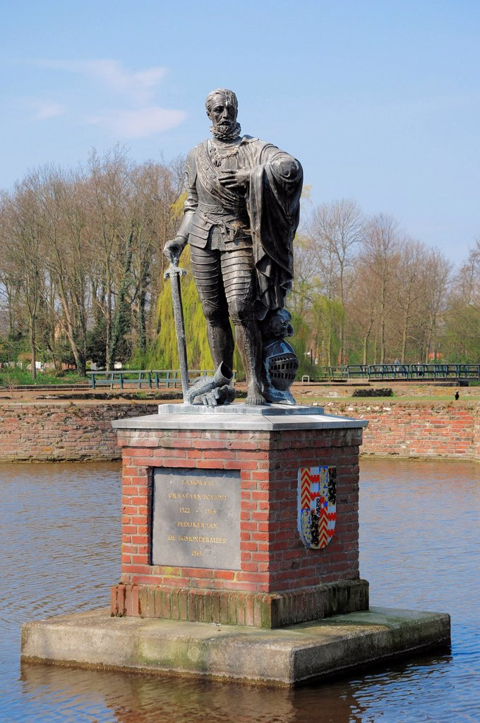 Statue of Lamoral, Count of Egmont or Egmond, North Holland, Netherlands, Europe : Stock Photo