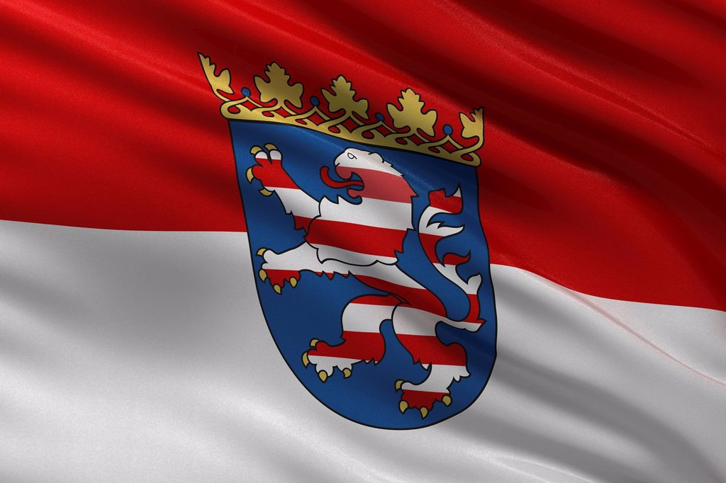 Stock Photo: 1848-651638 State flag of Hesse