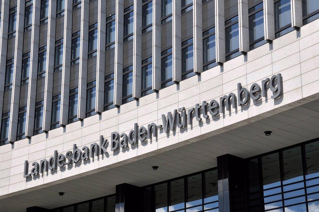 Headquarters of the Landesbank Baden_Wuerttemberg, Stuttgart, Baden_Wuerttemberg, Germany, Europe : Stock Photo