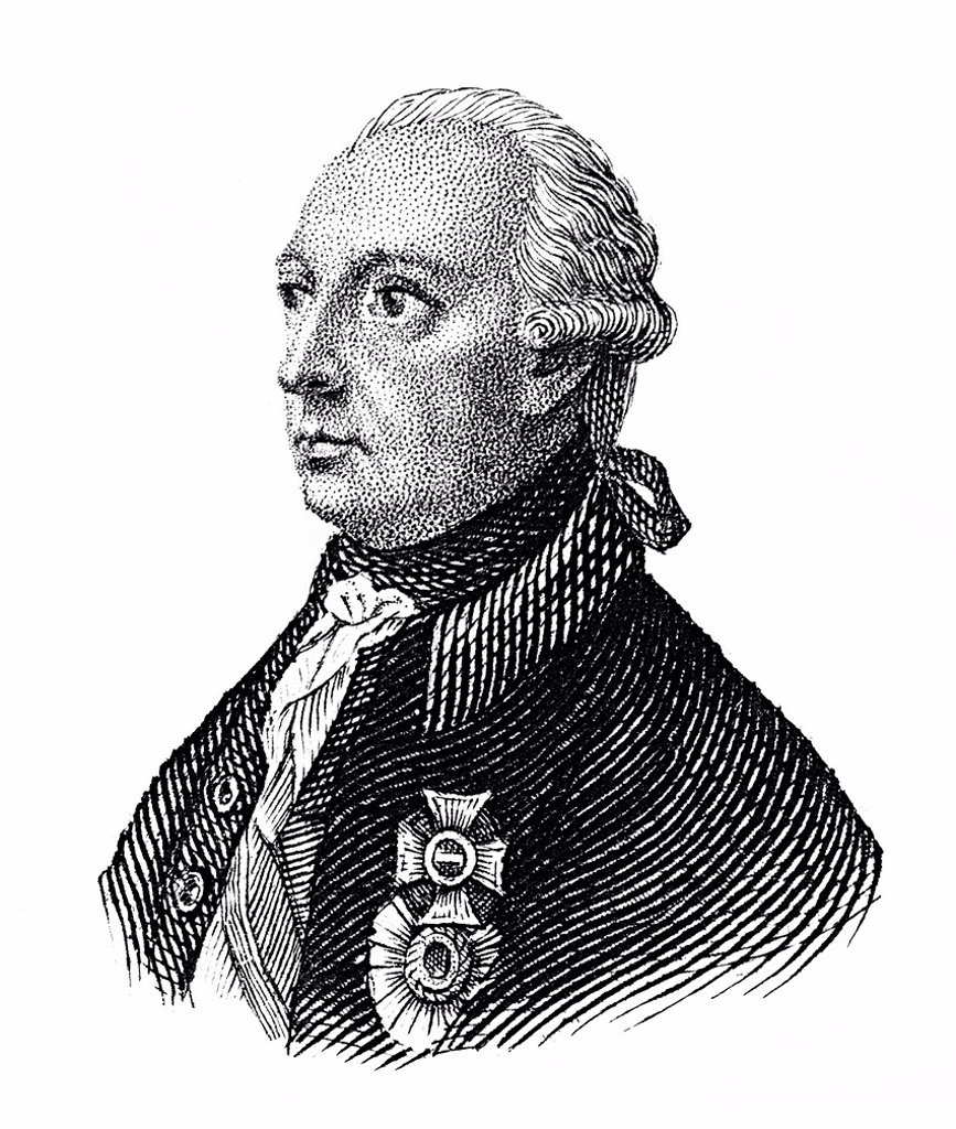 Stock Photo: 1848-652118 Historical drawing from the 19th century, portrait of Joseph II or Joseph Benedikt Anton Michael Adam, 1741 _ 1790, from the dynasty of Habsburg_Lorraine, Archduke of Austria, German King and Holy Roman Emperor
