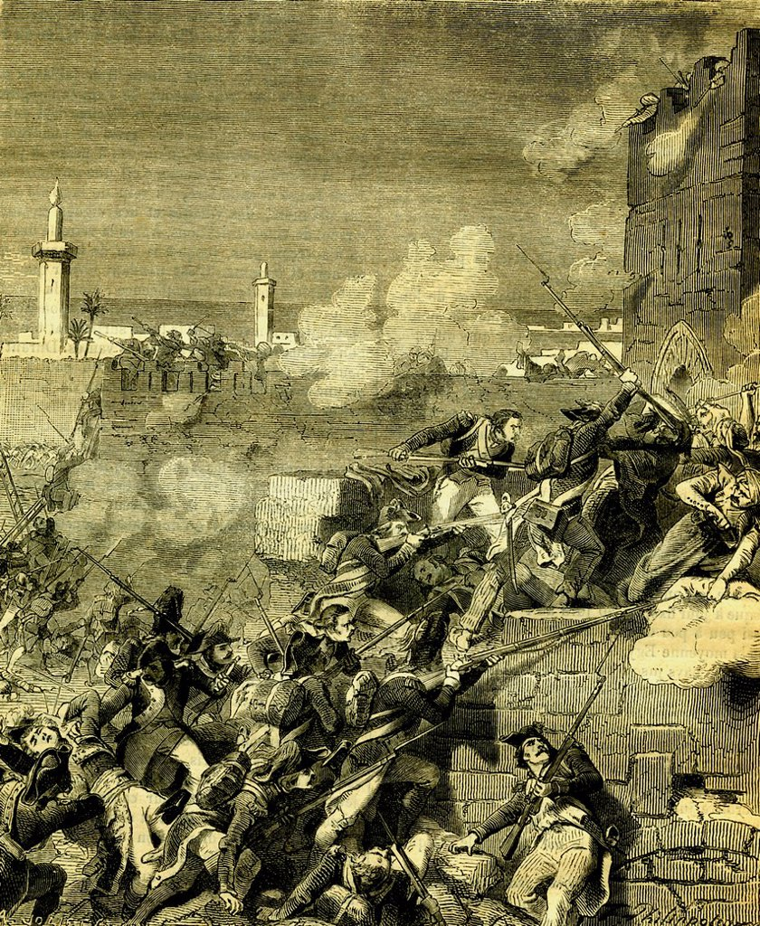Stock Photo: 1848-652243 Conquest by Napoleon on July 1st 1798, Alexandria, Egypt, historical engraving from 1865