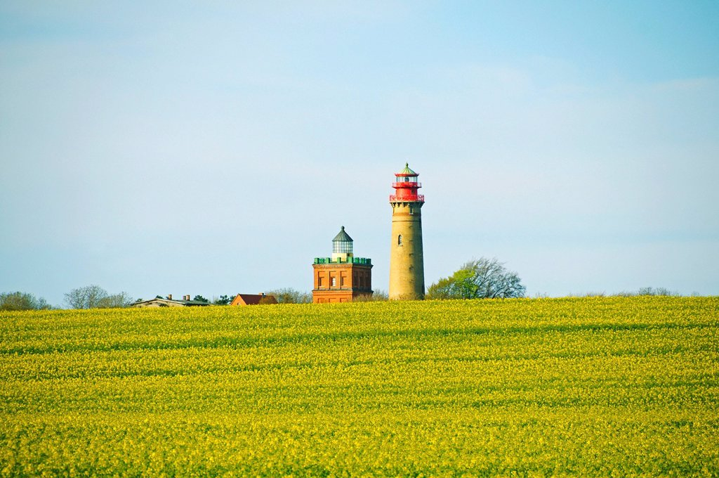 Lighthouses at Cape Arkona, Island of Ruegen, Meckelnburg_Western Pomerania, Germany, Europe : Stock Photo