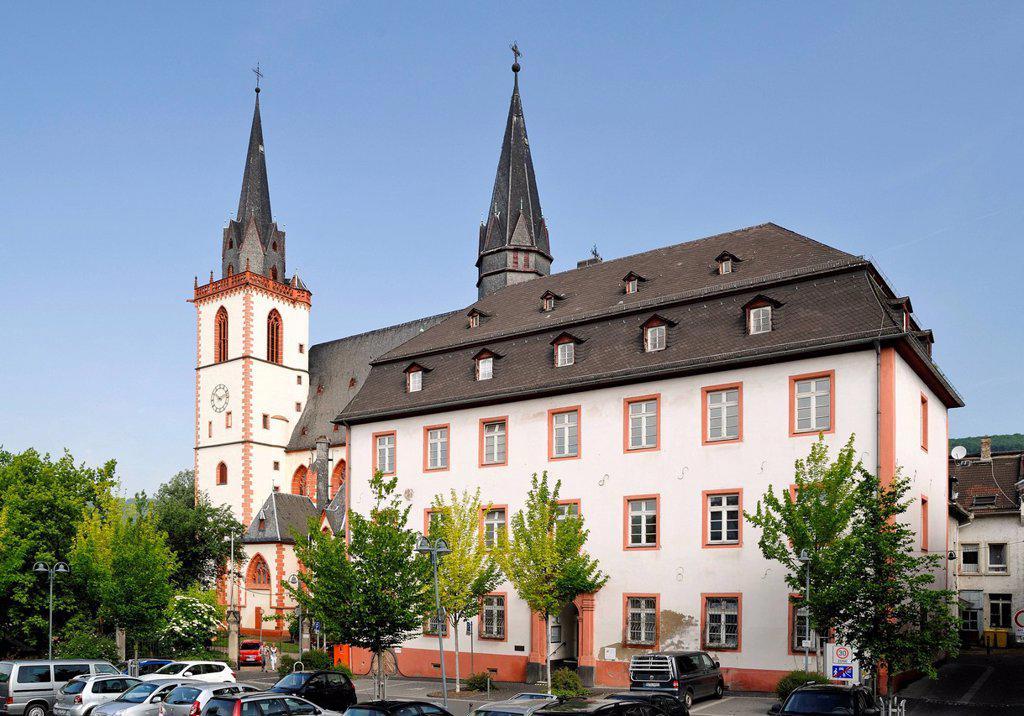 Stock Photo: 1848-653315 Catholic Parish church of St. Martin, Bingen, Upper Middle Rhine Valley, a Unesco World Heritage Site, Rhineland_Palatinate, Germany, Europe