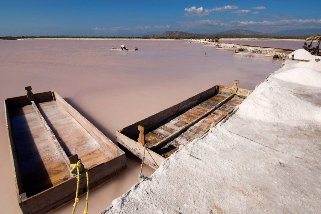 Stock Photo: 1848-654554 Saltworks in Salinas near Bani on the southern coast, 70 km west of Santo Domingo, Dominican Republic