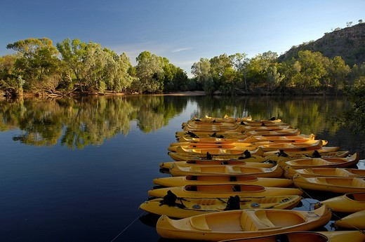 Beats for rent on katherine river, Northern territory, australia : Stock Photo
