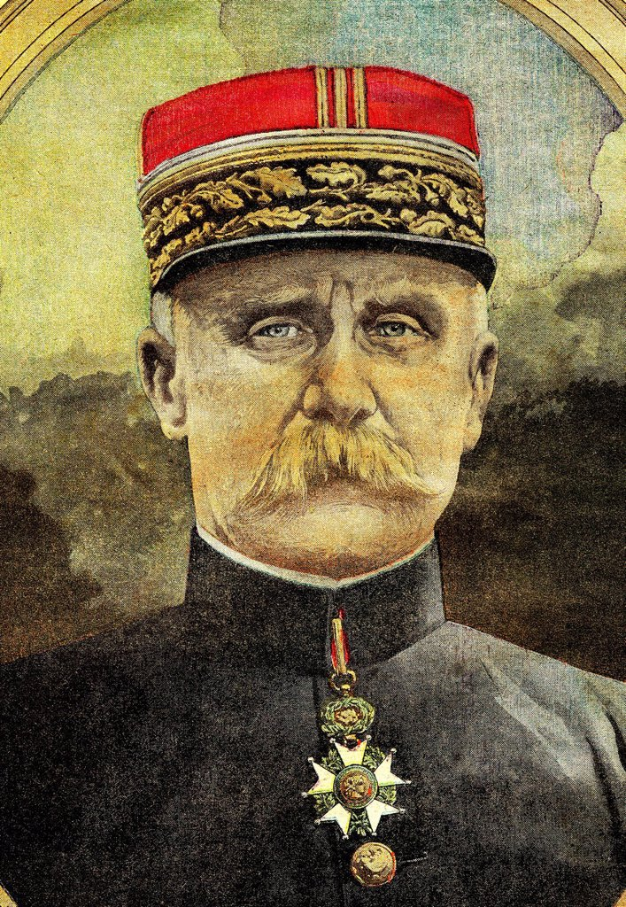 Stock Photo: 1848-654865 General Philippe Pétain, commander of the army in Verdun in First World War, historical illustration, 1918