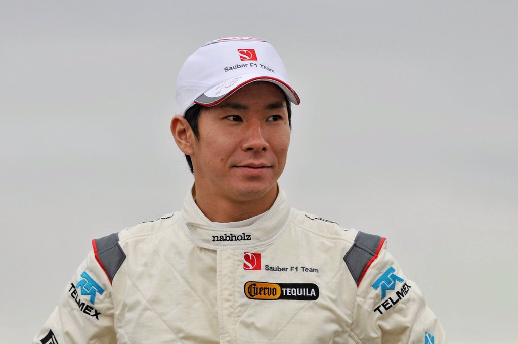 Stock Photo: 1848-655279 Kamui Kobayashi at the presentation of the Sauber_Ferrari C30 on the Circuit Ricardo Tormo in Valencia, Spanien on 31.1.2011
