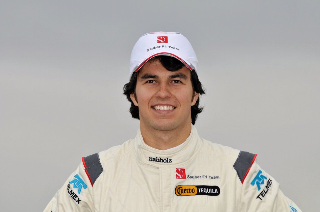 Sergio Perez, MEX, at the presentation of the Sauber_Ferrari C30 on the Circuit Ricardo Tormo in Valencia, Spanien on 31.1.2011 : Stock Photo