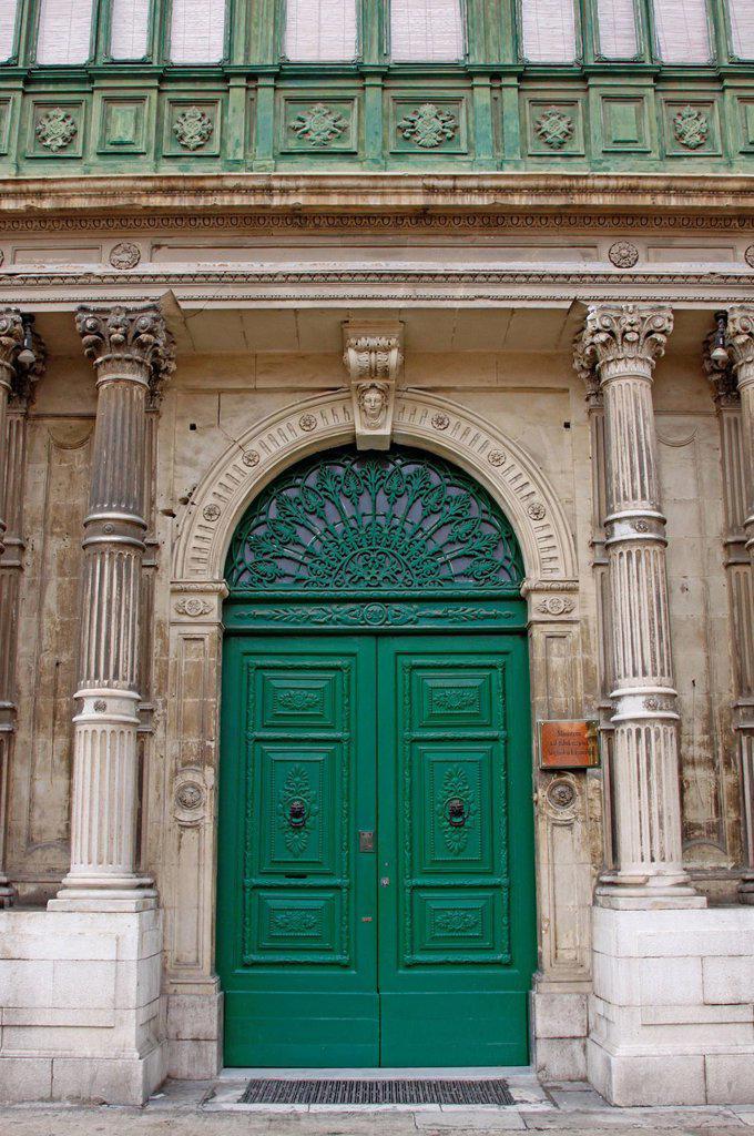 Stock Photo: 1848-655337 Entrance door, Valletta, Malta, Europe