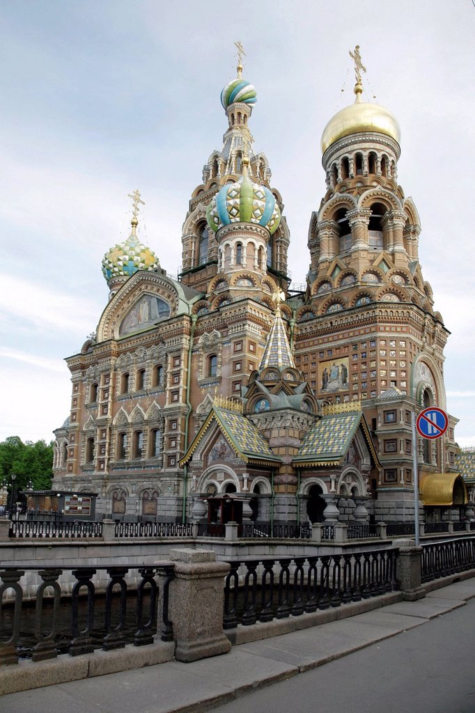 Church of the Savior on Spilled Blood or Cathedral of the Resurrection of Christ, UNESCO World Heritage Site, St. Petersburg, Russia, Eurasia : Stock Photo