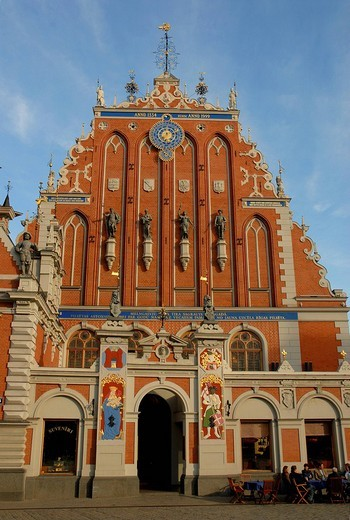 House of the Brotherhood of Blackheads, Riga, Latvia, Europe : Stock Photo