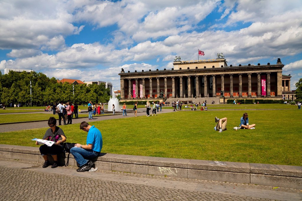 Lustgarten, Pleasure Garden, Altes Museum, Old Museum, Museum Island, Mitte district, Berlin, Germany, Europe : Stock Photo