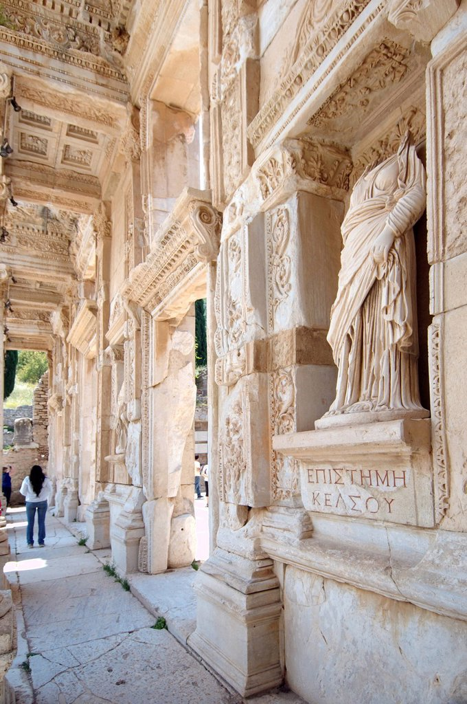 Stock Photo: 1848-656879 Library of Celsus, antique city of Ephesus, Efes, Turkey, Western Asia