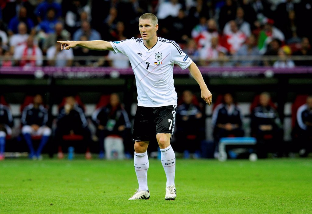 Stock Photo: 1848-656985 Bastian Schweinsteiger, 2012 UEFA European Football Championship, 2nd Semi_final Germany vs. Italy, 1_2, National Stadium, Warsaw, Poland, Europe