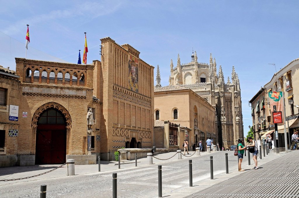 Stock Photo: 1848-658315 School of Art, University of San Juan de los Reyes, church, monastery, Toledo, Castile_La Mancha, Spain, Europe, PublicGround