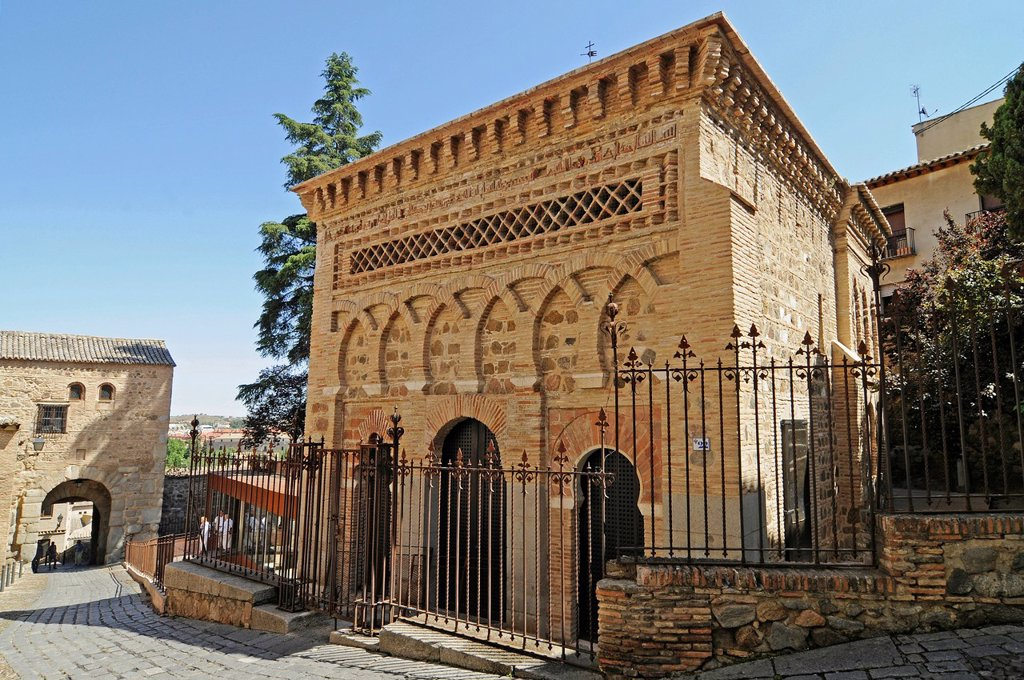 Stock Photo: 1848-658519 Mosque of El Cristo de la Luz, Jewish Mosque, church, Toledo, Castile–La Mancha, Spain, Europe, PublicGround