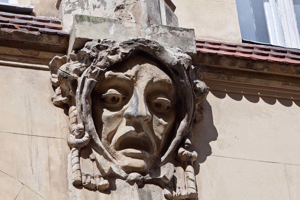 Stock Photo: 1848-658550 Detail of an Art Nouveau facade, Lviv, Ukraine, Europe