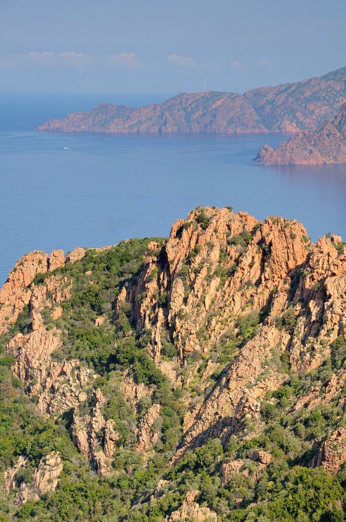 Stock Photo: 1848-659205 Calanche, rocky landscape on the west coast of Corsica, France, Europe