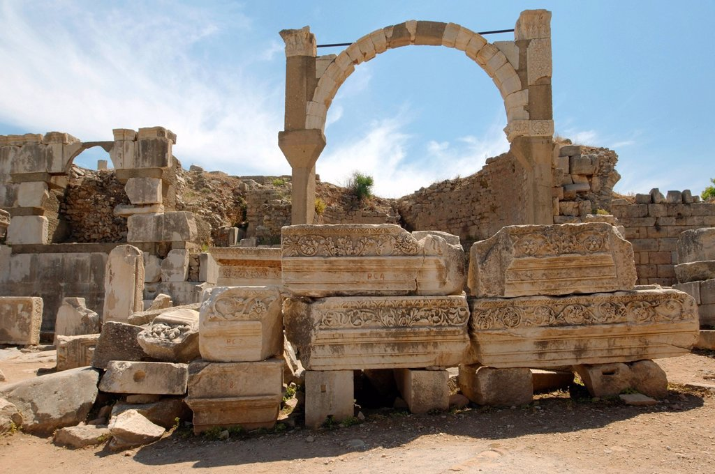 Stock Photo: 1848-659292 Antique city of Ephesus, Efes, Turkey, Western Asia