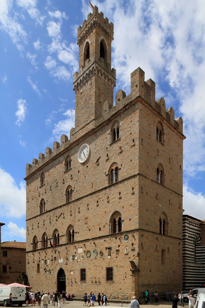 Palazzo dei Priori, Volterra, Tuscany, Italy, Europe : Stock Photo