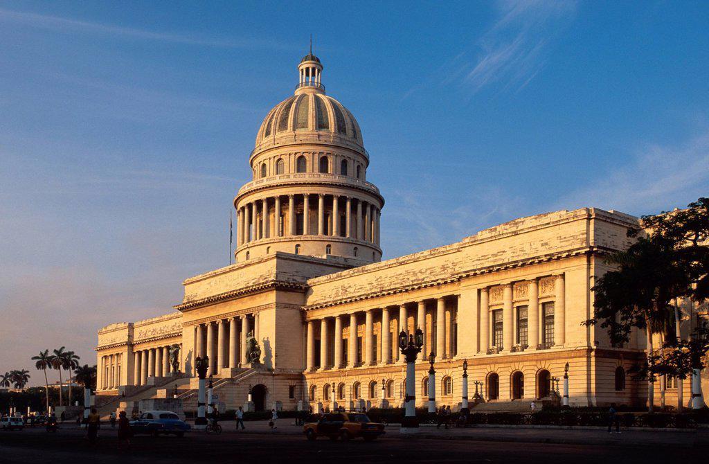 Capitolio on Paseo de Marti, Prado, Habana, Havana, Cuba, Caribbean : Stock Photo