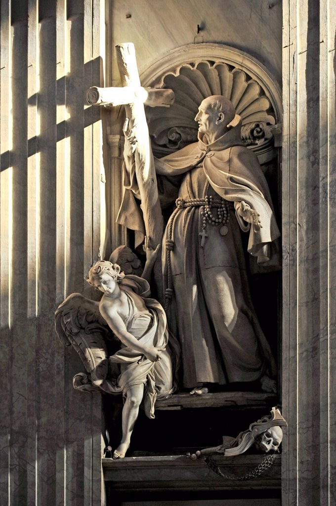 Stock Photo: 1848-660537 Statue of St. Peter of Alcantara in St. Peter´s Basilica, Vatican City, Rome, Lazio region, Italy, Europe