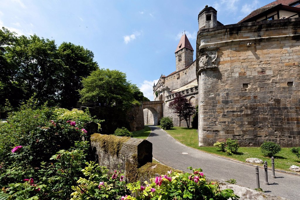 Veste Coburg castle, Coburg, Upper Franconia, Franconia, Bavaria, Germany, Europe : Stock Photo