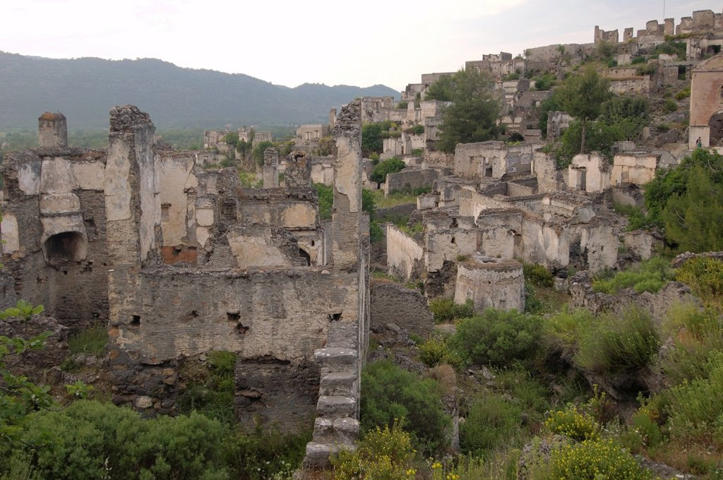 Greek ghost town of Levissi, Karmylassos, Kayakoey, Turkey : Stock Photo