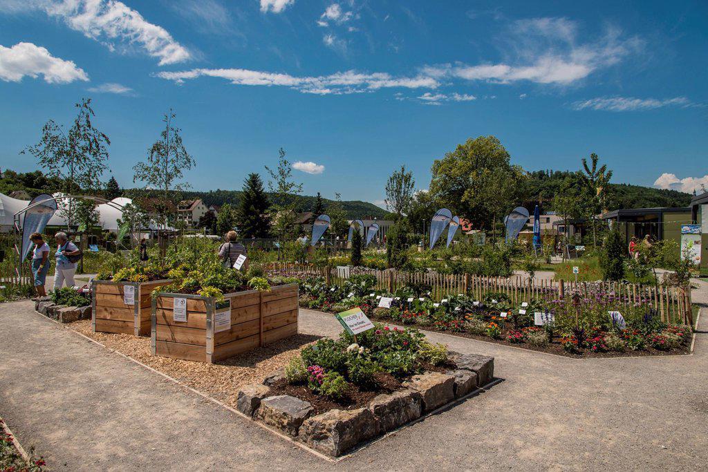 Stock Photo: 1848-661369 Landesgartenschau Nagold 2012, state garden show, show garden, Riedbrunnenpark site, Baden_Wuerttemberg, Germany, Europe