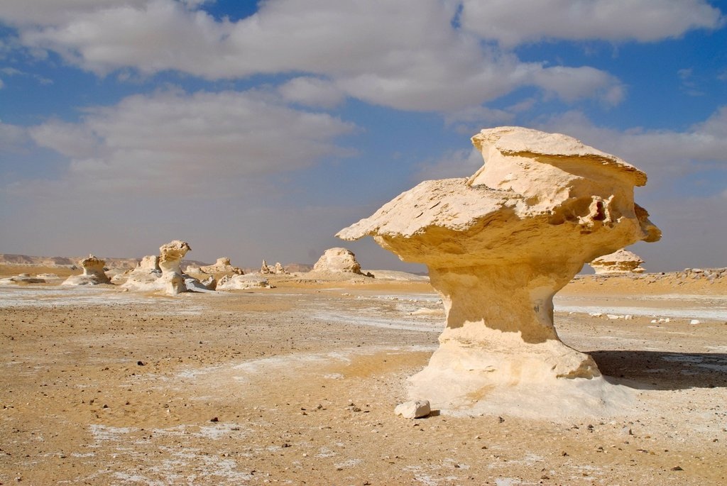 Rock formations, Western Desert, Egypt, Africa : Stock Photo